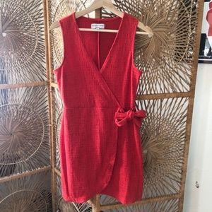 Madewell Texture & Thread Red Dress